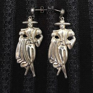 Matador Vintage Silver Earrings